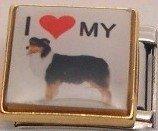 I LOVE MY AUSSIE AUSTRALIAN SHEPHERD DOG ITALIAN CHARM