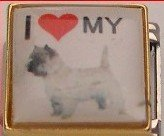 I LOVE MY CAIRN TERRIER DOG ITALIAN CHARM/CHARMS