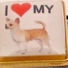 I LOVE MY CHIHUAHUA DOG ITALIAN CHARM/CHARMS