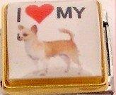 I LOVE MY CHIHUAHUA DOG ITALIAN CHARM/CHARMS