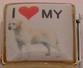I LOVE MY LABRAOR RETRIEVER DOG ITALIAN CHARM/CHARMS