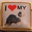 I LOVE MY OLD ENGLISH SHEEPDOG ITALIAN CHARM/CHARMS