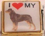 I LOVE MY ROTTWEILER DOG PUPPY ITALIAN CHARM/CHARMS