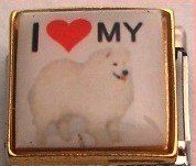 I LOVE MY SAMOYED DOG PUPPY ITALIAN CHARM/CHARMS