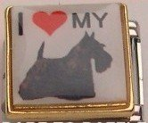 I LOVE MY SCOTTISH TERRIER DOG ITALIAN CHARM/CHARMS