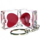 Hard Candy Lip Gloss Duo Key to My Heart Keychain
