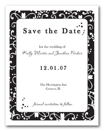 Save the Date Wedding Invitation Announcements