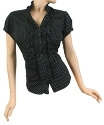 NWT Torrid Black Double-Ruffle Dot Blouse Top Plus Size 2X
