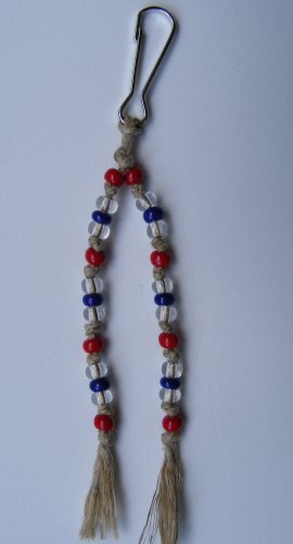 Hemp & Glass Beads -Zipper Pull #ZP0050