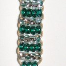 Beaded Key Chain- Aqua & Clear #KC0031
