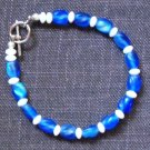 Bracelet -Blue tones & White #B0085