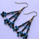 Blue & Black  earrings #E0044