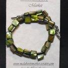 Green shell bracelet #B0093