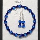 Bracelet & Earing Set- Blues  #BES0040
