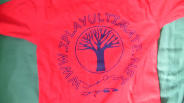 Red I Play Ultimate Shirt Medium