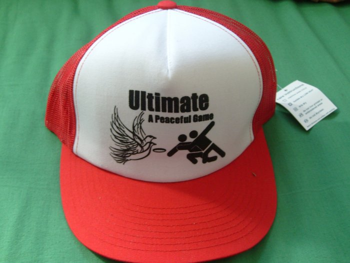 Red Ultimate-A Peaceful Game Hat