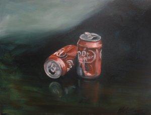 Dr Pepper pleeeease Original Oil painting by artettina