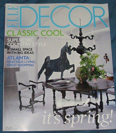 Elle Decor Magazine May 2008 Issue