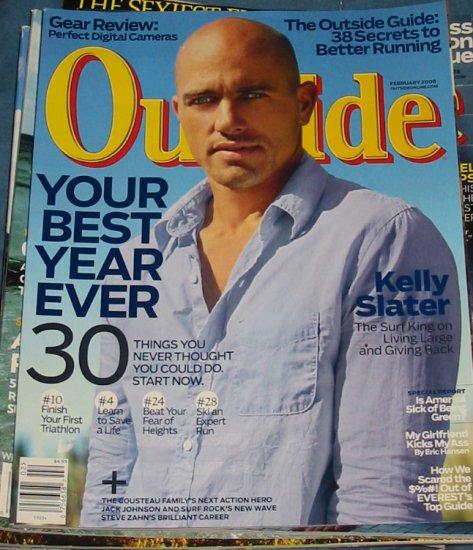 Outside Magazine Kelly Slater Cover February 2008