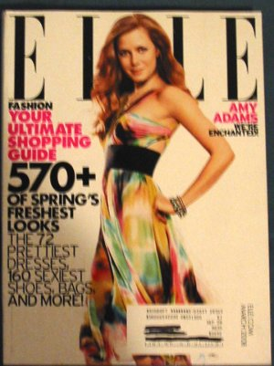 Elle Magazine Amy Adams Cover March 2008 Issue