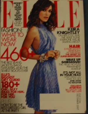 Elle Magazine Keira Knightley Cover December 2007 Issue