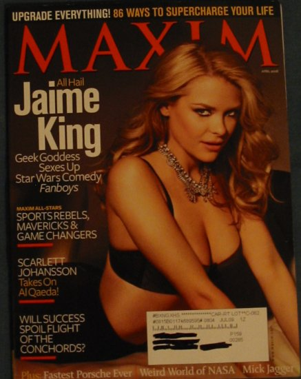 Maxim Magazine Jaime King Cover April 2008 Issue