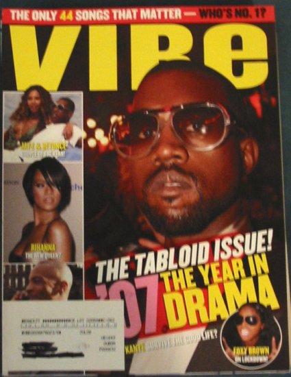 Vibe Magazine Kanye West / Tabloid Cover January 2008 Issue