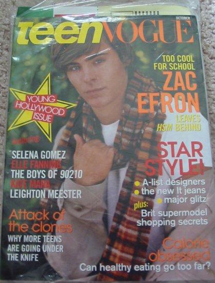 Teen Vogue Zac Efron October 2008 Cover