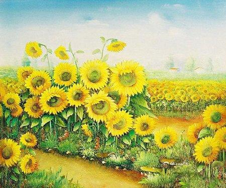 Handmade oil painting - flower