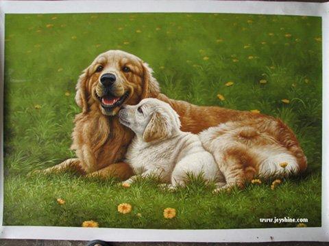 Handmade oil painting - Dog