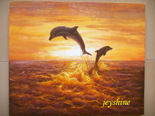 original painting : dolphin