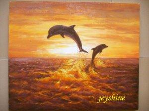 original painting : dolphin