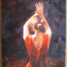 original painting :  Tango girl
