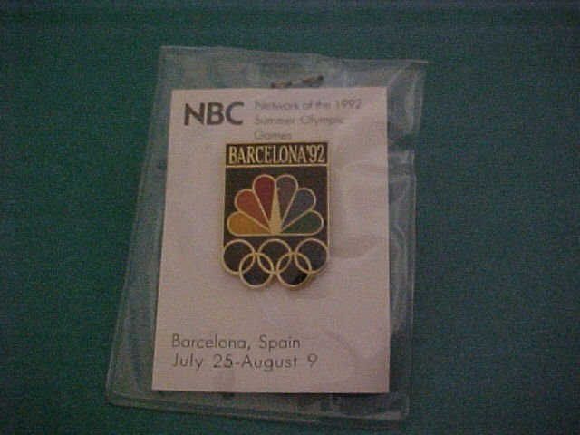 NBC Olympic Games Barcelona 1992 Pin