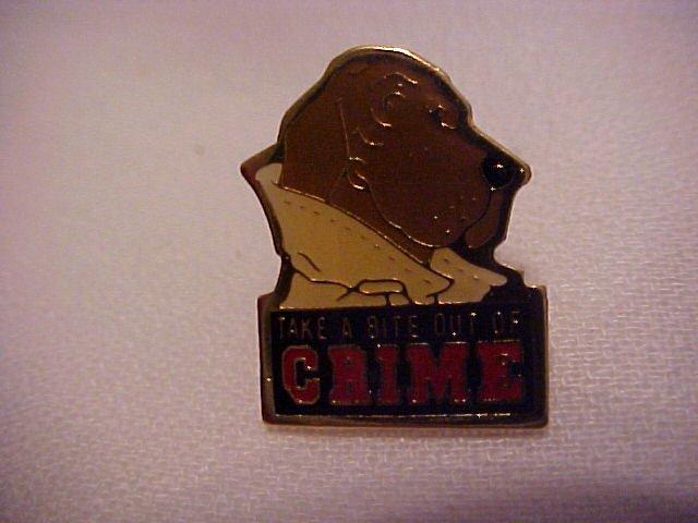 Mc Graff Take a Bite Out Of Crime Pin