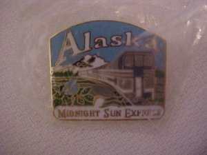 Midnight Sun Express ALASKA Pin-Pins