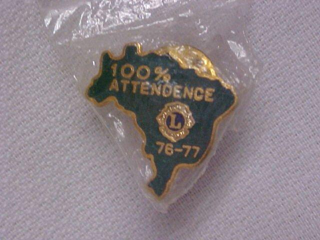 Lions Club 100% Attendance  Pin