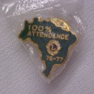 Lions Club 100% Attendance  Pin