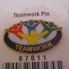 TEAMWORK  ENAMEL PIN-PINS