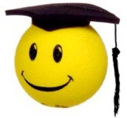 Smiley is a Graduate ! Antenna Topper-Balls