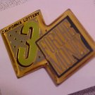 California Lottery 3 FOR THE MONEY Pin