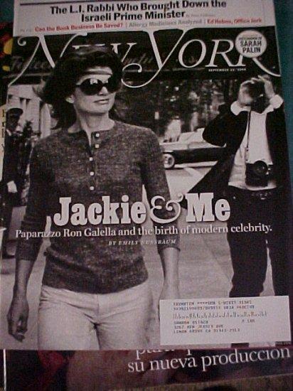 New York Magazine September 22, 2008-Jackie & Me