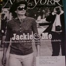 New York Magazine September 22, 2008-Jackie & Me