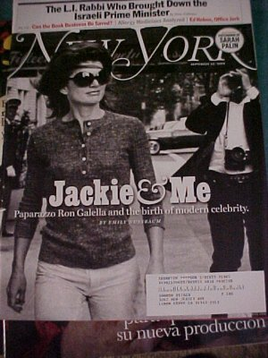 New York Magazine September 22, 2008-Jackie &amp; Me