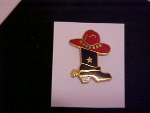 EXPRESS Red Hat Cowgirl Brown Boot PIN-PINS