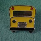 Yellow US Public School Bus Driver Front View Hat Pin Pins