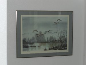 "Flying Ducks  LTD EDITION PRINT BY LLOYD M. ""PETE"" BUCHER"