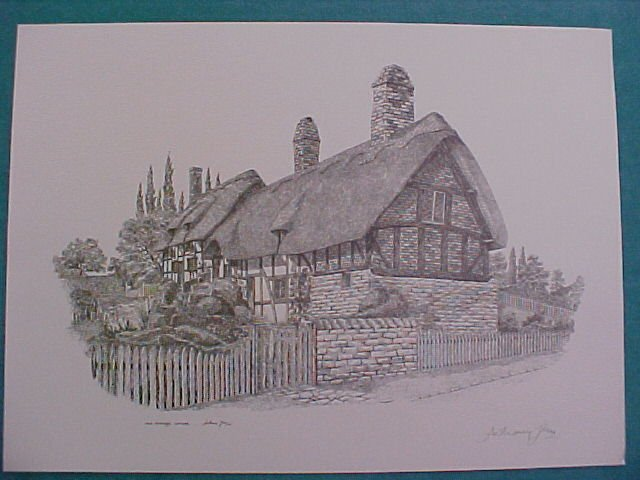 Signed print of Anne Hathaway's Cottage-Anthony John