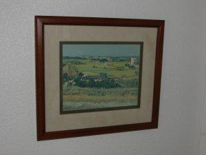 Harvest at Arles Vincent VAN GOGH Framed Giclée
