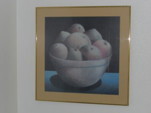 """APPLES"" 1981  Print by Carol Anthony"